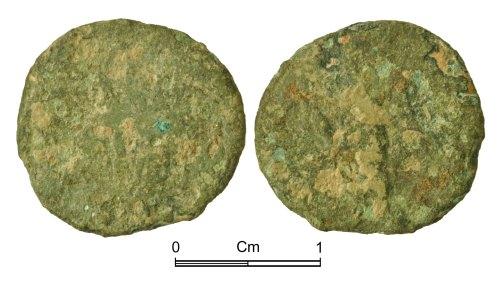 NMGW-F142C3: Roman Coin: Tetricus I in Gaul, radiate