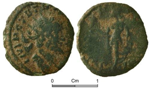 NMGW-F454FA: Roman Coin: Tetricus I in Gaul, radiate