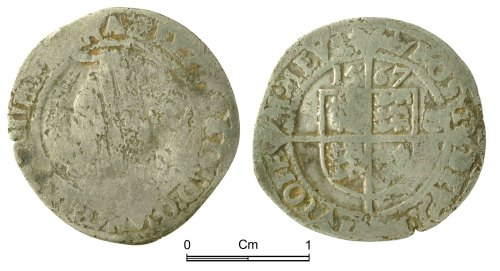 NMGW-06BAA9: Post Medieval Coin: Elizabeth I, threepence, London
