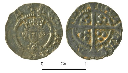NMGW-07FF03: Medieval Coin: Henry VI, halfpenny, London