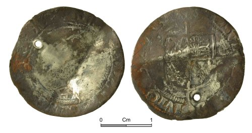 NMGW-0814E3: Post Medieval Coin: Elizabeth I, groat, London