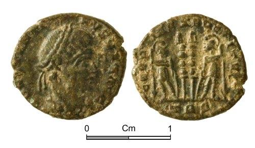 NMGW-466CE5: Roman Coin: 'Constantine I' irregular nummus