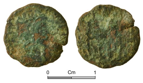 NMGW-08AB0F: Roman Coin: House of Constantine, nummus