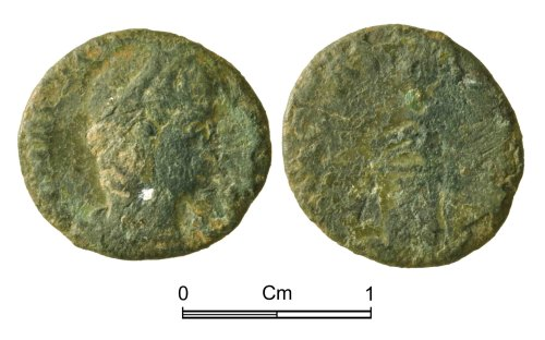 NMGW-08F358: Roman Coin: Theodora nummus