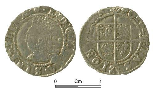 NMGW-48CE66: Post Medieval Coin: Elizabeth I, half groat, London