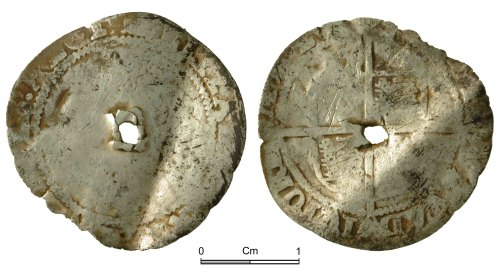 NMGW-58F504: Post Medieval Coin: Elizabeth I, sixpence, London