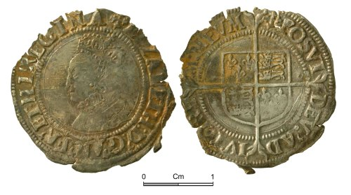 NMGW-5AA631: Post Medieval Coin: Elizabeth I, groat, London