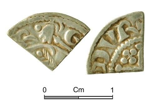 NMGW-5CB53A: Medieval Coin: Short Cross cut farthing