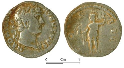NMGW-5CC632: Roman Coin: Hadrian, denarius, Rome