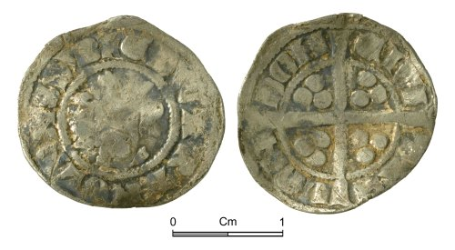 NMGW-5CD764: Medieval Coin: Edward II, penny, London