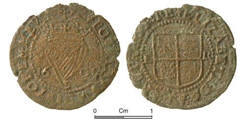 NMGW-73B7B0: Post Medieval Coin: Elizabeth I, penny for Ireland