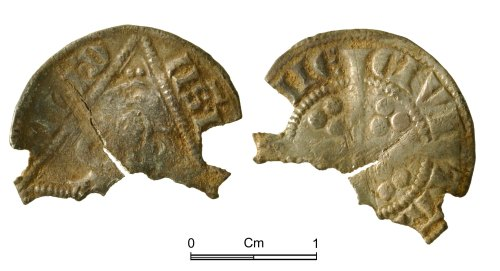 NMGW-74129A: Medieval coin: Ireland, Edward I, penny, Dublin