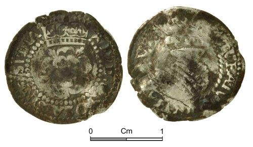 NMGW-71CAA9: Post Medieval Coin: James I, halfgroat, London