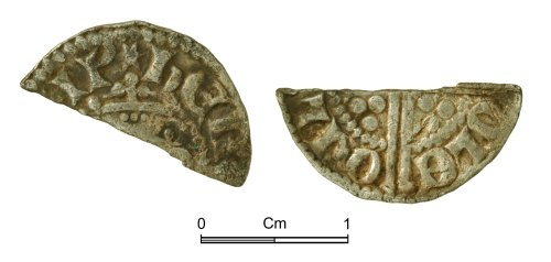 NMGW-72DEC4: Medieval Coin: Henry III 'Long Cross' cut halfpenny
