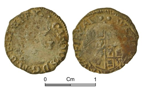 NMGW-6FB863: Post Medieval Coin: Charles I, penny, London
