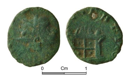 NMGW-1B72A4: Roman copper alloy coin