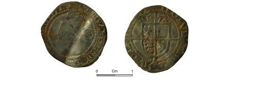 NMGW-7473DD: Post Medieval Coin: Elizabeth I, threepence, London