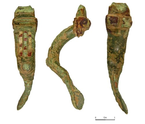 NMGW-82F1B2: Roman bow brooch of Wroxeter variant type