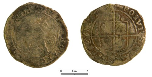 NMGW-841937: Post Medieval Coin: Elizabeth I, sixpence, London