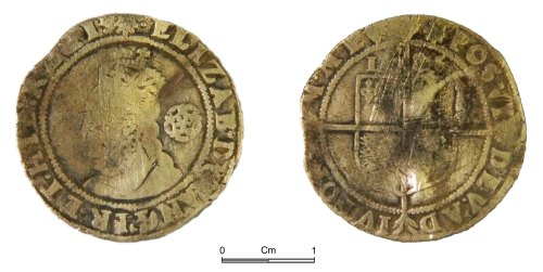 NMGW-848722: Post Medieval Coin: Elizabeth I, sixpence, London