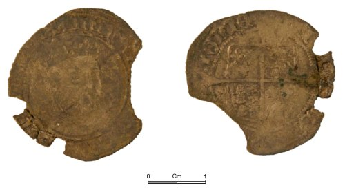 NMGW-88027B: Post Medieval Coin: Henry VIII, groat, London