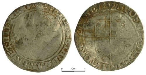 NMGW-F48B8C: Post Medieval Coin: Elizabeth I, shilling, London
