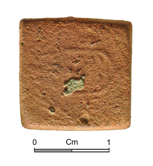 NMGW-2C38AD: Medieval copper alloy coin weight