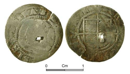 NMGW-0A0833: Post Medieval Coin: Elizabeth I, half groat, London