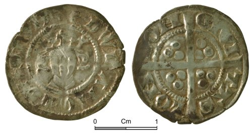 NMGW-256A22: Medieval Coin: Edward I, penny, London