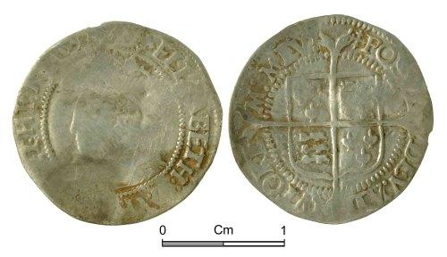 NMGW-8B5B3B: Post Medieval Coin: Elizabeth I, half groat, London