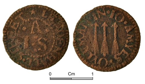 NMGW-A2DAB6: Post Medieval Coin: farthing token