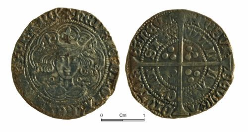 NMGW-F26A55: Medieval coin: Henry VI, groat, Calais