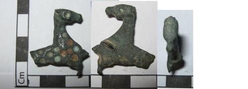 PUBLIC-579897: zoomorphic hippocampus roman enamled brooch
