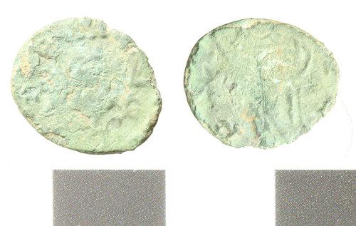 WILT-1C63E3: Roman coin; barbarous radiate