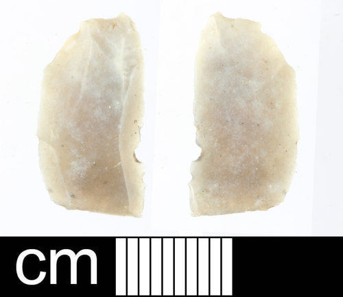 SOM-0A5F9D: Prehistoric worked flint flake