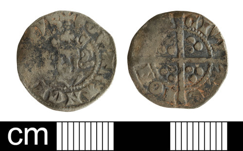 SOM-0A7B3A: Medieval coin: Penny of Edward I