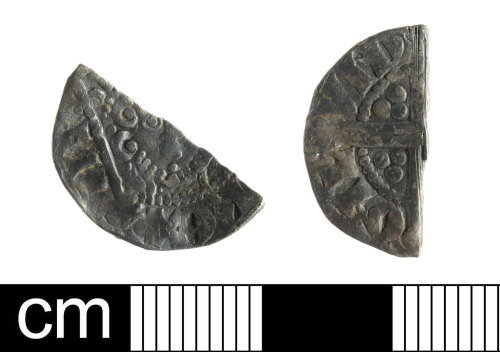 A resized image of Medieval Coin: silver cut halfpenny of Henry III