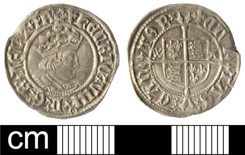 SOM-276477: Post-Medieval coin: Silver halfgroat of Henry VIII