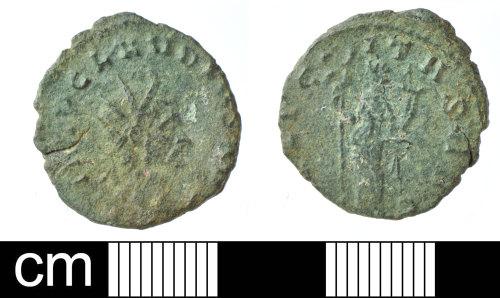 SOM-5568DC: Roman coin: Copper alloy radiate of Claudius II