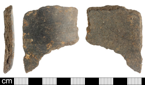 A resized image of Roman ceramic black burnished ware sherd; sherd 2