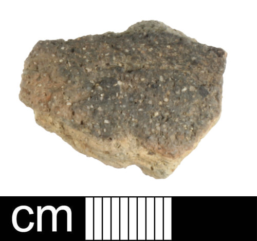 A resized image of Roman ceramic black burnished ware sherd; sherd 1