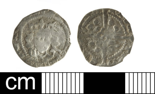 SOM-8AAA4B: medieval coin: silver penny of Edward IV