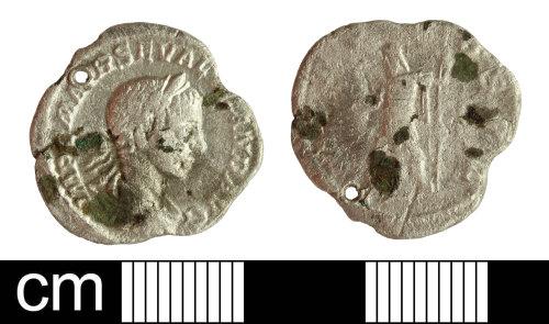 SOM-AA04B1: Roman Coin: Denarius of Severus Alexander (contemporary copy)