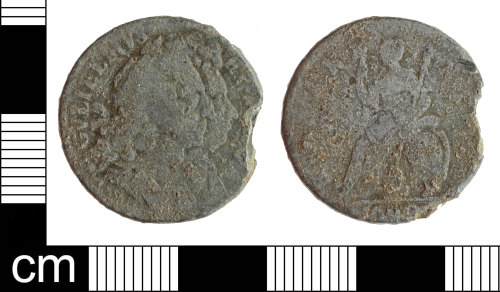 SOM-AF11FA: Post-Medieval coin: tin farthing of William and Mary