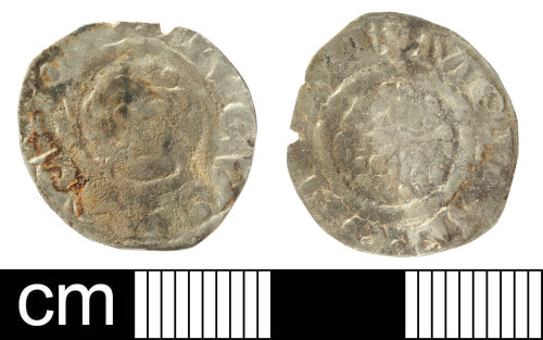 SOM-CD04A0: Medieval coin: Penny of Richard I