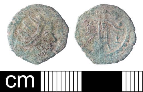 SOM-D4FBDE: Roman coin: copper alloy barbarous radiate