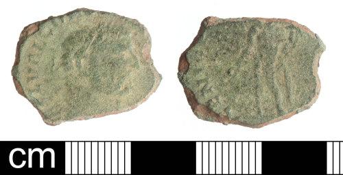 SOM-D85819: Roman coin: Nummus of Constantius I as Caesar