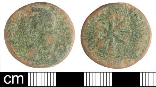 SOM-D89417: Roman coin: nummus of Magnentius or Decentius
