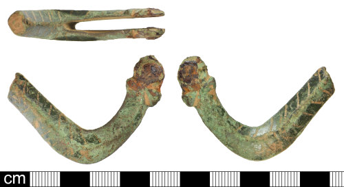 SOM-ECE7B8: Post-Medieval copper alloy spur