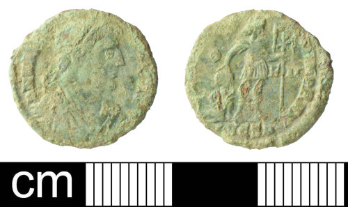 SOM-EED37B: Roman Coin: Nummus of Gratian